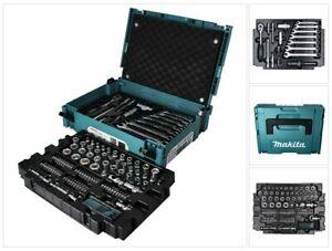 "Makita Werkzeug Set 120 tlg E-08713 1/4"" / 3/8"" / Ratsche / Steckschlüssel + Bit"