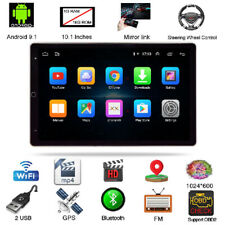 2DIN 10.1'' 1+16G Rotatable Android 9.1 Touch Screen Quad Car Stereo Radio GPS
