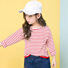 Child Kids Toddler Baby Girl Long Sleeve Tops T-shirt Blouse Pullover Sweatshirt Red 6-7 Years