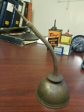 SMALL VINTAGE   OIL CAN 10  IN TALL  OILER  MADE IN USA