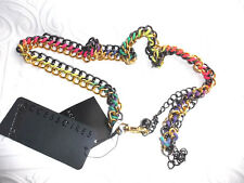 Women's adjustable chain link belt  gold gray and  multicolor trendy up to 40