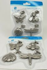 Tradewind Bay Tablecloth Weights Set of 4~Butterfly Ladybug Dragonfly Bee Silver