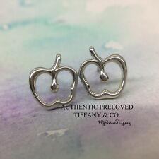 Mint Authentic Tiffany & Co Elsa Peretti Apple Stud Earrings Silver