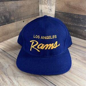 Vintage Sports Specialties Los Angeles Rams Script Wool Snapback Cap Hat