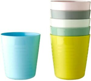 IKEA Kalas, Pastel. 6 Mugs, Children's, Kids, Plastic Cups NEW .Free P&P