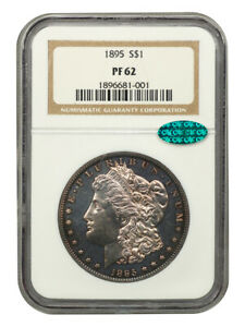 1895 $1 NGC/CAC PR 62 - Key Date Proof-Only Rarity - Morgan Silver Dollar