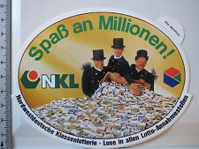 Aufkleber Sticker NKL Nordwestdeutsche Klassenlotterie Millionär Decal (3281)