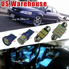 10-pc Aqua Ice Blue Interior LED Lights Package Combo Kit for Acura TL 1999-2003