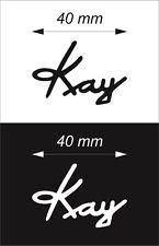 Self-adhesive PVC film Kay Logo Sticker