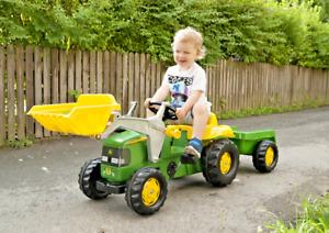 John Deere Kid Tractor with Trailer by Kettler