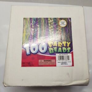 Mardi Gras Bead Assortment 100 Pieces Party Favor
