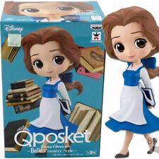 BANPRESTO Disney Characters Q Posket Belle Country Style Deep Blue Ver. Figure