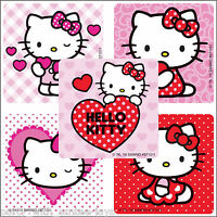 Hello Kitty Hearts Stickers x 5 - Birthday Party Supplies - Valentine's Love