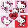 Hello Kitty Hearts Stickers x 5 - Birthday Party Supplies - Valentine's Love