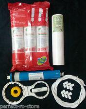 For RO Purifier Complete Service Kit + Vontron 75 GPD Membrane + Hi-Tech Inline