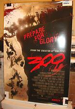 300 FRANK MILLER ZACK SNYDER Gerard Butler Original Double Sided Movie Poster