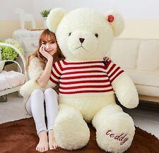 "140cm(55"") GIANT HUGE BIG WHITE TEDDY BEAR STUFFED ANIMAL PLUSH SOFT TOY gift"