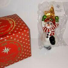 Christopher Radko Swing on a Star Ornament ~Snowman 1999 Retired Nib #99-033-0