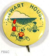 Vintage Stewart House Appeal Pin Badge - Girl & Boys on Beach