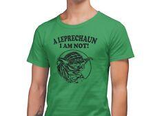 St Patrick's Day Leprechaun I Am Not Yoda T-Shirt Unisex Comedy Tee Shirt GREEN