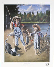 """""""Beginner's Luck"""" by Newell Boatman Offset Lithograph on Paper CoA 2010 LE 2750"""
