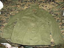 wool nylon sweater jacket coat military dated 1950's unissued MEDIUM field KOREA