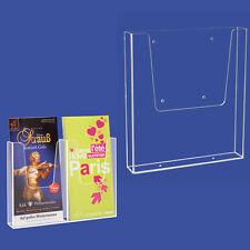 5 espositori 2x1/3 A4 porta depliants - bruscure pieghevoli muro-parete-vetrina