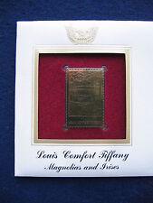 2007 Louis Comfort Tiffany Magnolias Irises Replica 22kt Gold Golden Cover Stamp