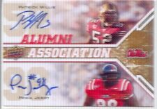 peria jerry rc rookie patrick willis 2x dual auto autograph ole miss rebels #/50