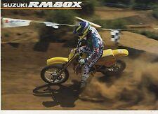 1991 SUZUKI RM80 2 page Motorcycle Brochure NCS