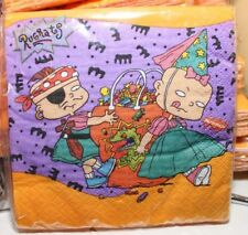 16 VINTAGE NICKELODEON RUGRATS HALLOWEEN BEVERAGE NAPKINS NEW PARTY SUPPLIES
