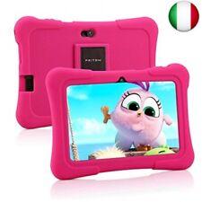 Pritom Tablet per bambini da 7 pollici, Quad Core Android, ROM da 16 GB, WiFi,