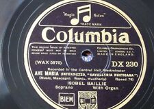 """78rpm 12"""" ISOBEL BAILLIE ave maria / on wings of song DX 230"""