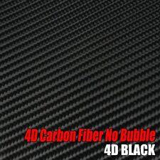 Air Release Auto Body Vinyl Wrap Decals 4D Carbon Fiber Texture Film 5M x 1.5M
