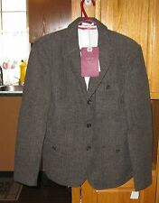 Bellfield Man Jacket Suit B Ayal Suit Brown Herringbone Medium FREE SHIPPING