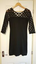 Mango Black Dress, Lace Sleeves, small, hardly been worn, excellent condition