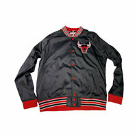 Mitchell & Ness Chicago Bulls Injury Report Satin Jacket Black Jordan