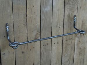 Wrought iron towel bar, Bathroom Accessories, Towel holder, Towel rack