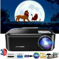 7000Lumens 1080P Full HD LED Projector Smart Home Theater Cinema Multimedia HDMI