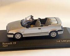 Renault 19 Cabrio 1992, Plata-Metálico MINICHAMPS, 1:43