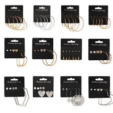 Women Earrings Set Dangle Drop Boho Long Earrings Tassel Big Geometric Jewelry