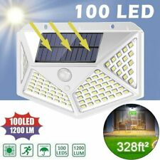 100 LED Solar Power Wall Light Motion Sensor Waterproof Garden Pathway Lamp EB