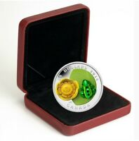 "2014 RCM ""Water Lily and Leopard Frog"" Murano Glass $20 fine silver coin."