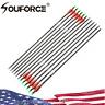 US 6pcs Spine 500 28inch 7.8mm Carbon Arrow Archery For Compound & Recurve Bow