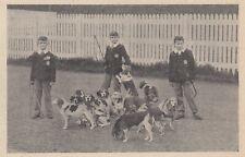 G3563 France - Enfants avec leurs chiens - 1907 vintage print - Stampa epoca