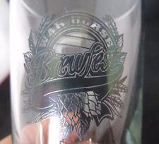 """War Horse Brewfest 6 oz Drinking Glass 4 1/2"""" tall"""