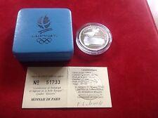 100 Francs Olympia Albertville1992 in Box-Silber-Spiegelglanz !!!!!!