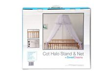 Sweet Dreams Cot Halo Stand with Net White