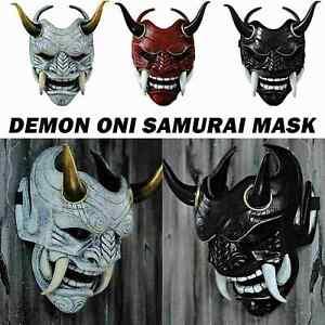 Halloween Japanese Hannya Demon Oni Samurai Noh Kabuki Prajna Devil Latex Mask