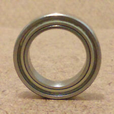 1/2 inch bore.Radial Ball Bearing.Metal.(1/2 X 3/4 X 5/32)inch. Lowest Friction